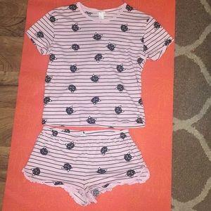 Small F21 pajama set
